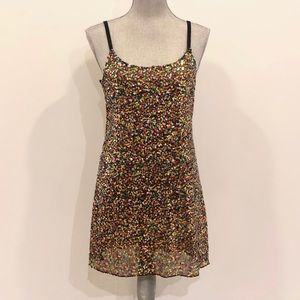 Free People Multicolor Sequin Slip Dress - Size M